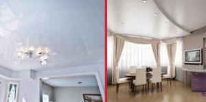 натяжной потолок или гипсокартон?