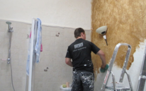 оштукатуривание ванной